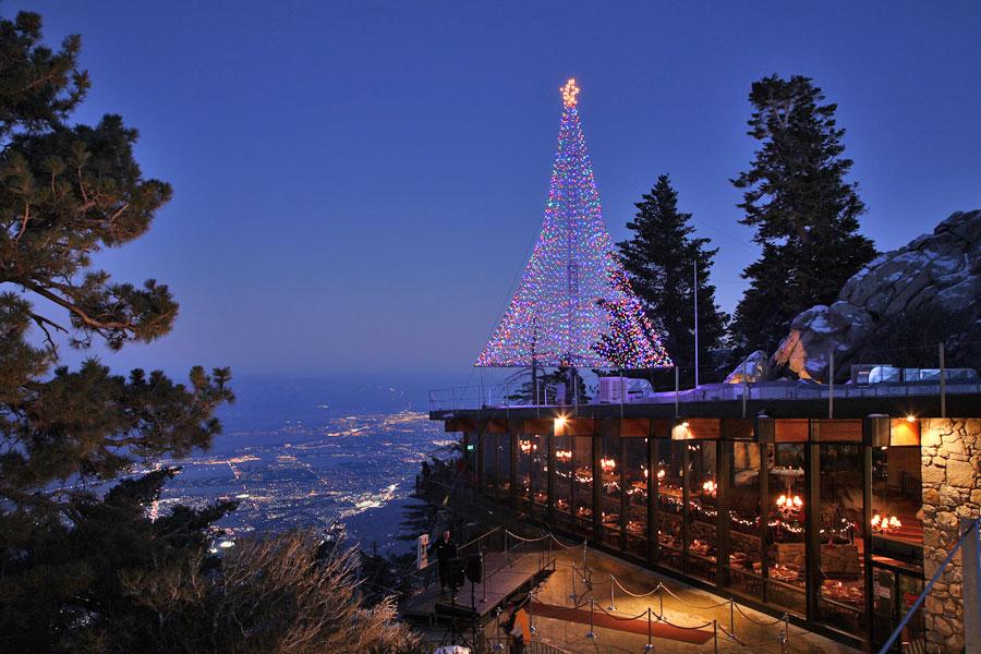 Palm Springs Tram Christmas Tree