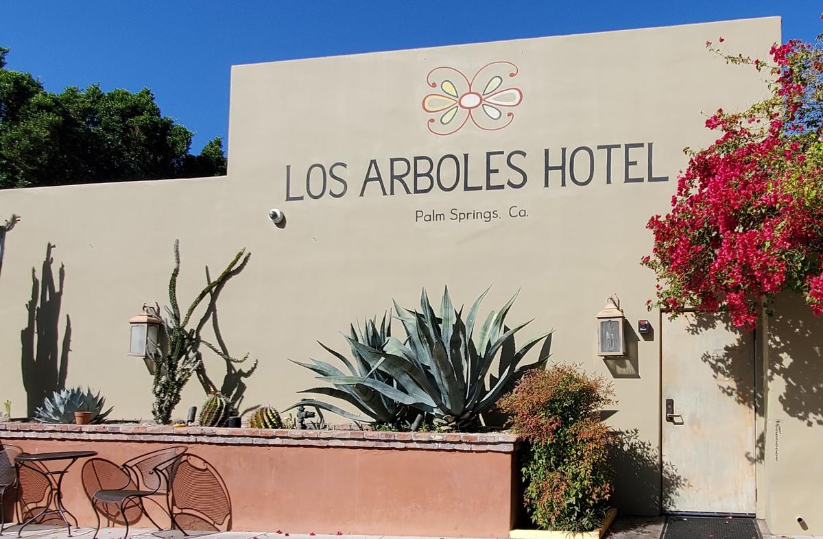 Check into the Los Arboles Hotel in Palm Springs